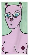 Pig Lady Beach Towel