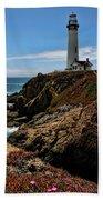 Pigeon Point Lighthouse Vertical Beach Towel