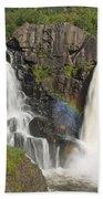 Pigeon River High Falls 4 Beach Towel