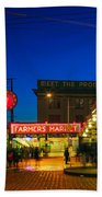Pike Place Market Beach Towel by Inge Johnsson
