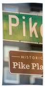 Pike Place Market Sign Beach Towel