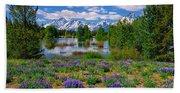 Pilgrim Creek Wildflowers Beach Towel