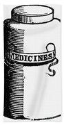 Pill Bottle, 19th Century Beach Towel