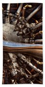 Pilot - Plane - Engines At The Ready  Beach Towel by Mike Savad