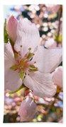 Pin Cherry Blooms Beach Towel