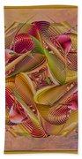 Pin Stripe City Beach Towel by Deborah Benoit