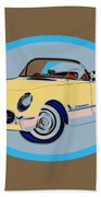 Pin Up Vette Beach Towel