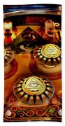 Pinball All Seeing Eye Beach Towel by Benjamin Yeager