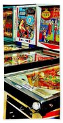 Pinball Alley Beach Towel by Benjamin Yeager