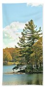 Pine By The Water Beach Towel
