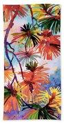 Pine Needle Fireworks Beach Towel