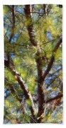 Pine Tree Glow 2014 Beach Towel