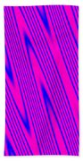 Pink And Blue Abstract Beach Towel