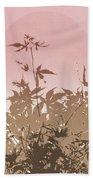Pink And Brown Haiku Beach Towel