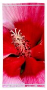 Pink And Red Hibiscus Flower Beach Towel