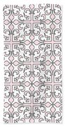 Pink And White Interlude Beach Towel