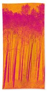 Pink Aspen Trees Beach Towel