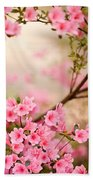 Pink Azalea Bush Beach Towel