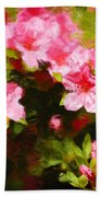 Pink Azealas Beach Towel