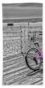 Pink Bicycle Beach Towel