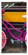 Pink Bike Beach Towel