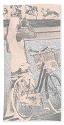 Pink Bike Beach Towel