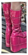 Pink Boots Beach Towel by Jasna Buncic