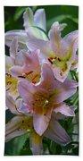 Pink Bridal Bouquet Beach Towel