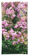 Pink Bush Beach Towel