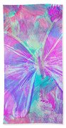 Pink Butterfly By Jan Marvin Beach Towel