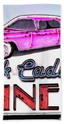 Pink Cadillac Diner Beach Towel