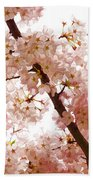 Pink Cherry Blossoms - Impressions Of Spring Beach Towel