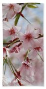 Pink Cherry Blossoms Beach Towel