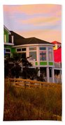 Pink Clouds At Isle Of Palms Beach Towel