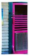 Pink Door Beach Towel