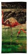 Pink Flamingos - Shangri-la Beach Towel