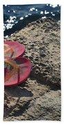 Pink Flip Flop Beach Towel