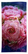 Pink Flowers Beach Towel