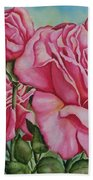 Pink Frillies Beach Towel