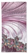 Pink Froth A Fractal Abstract Beach Towel