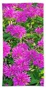 Pink Garden Flowers Beach Towel
