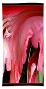 Pink Gladiolas Abstract Beach Towel