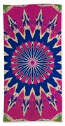 Pink Green Blue Abstract Beach Towel