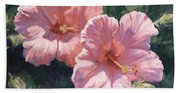 Pink Hibiscus Beach Towel