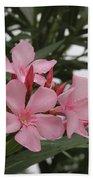 Pink Oleander 4 Beach Towel