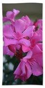 Pink Oleander Bunch Beach Towel