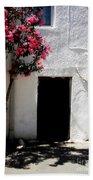 Pink Oleander By The Door Beach Towel