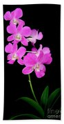Pink Orchids 9 Beach Towel