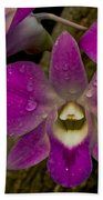 Pink Orchids Beach Towel