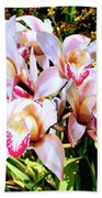 Pink Spirit Orchids Palm Springs Beach Towel